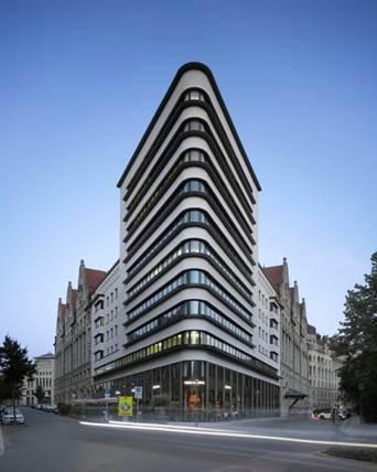 Eckhaus-Trias-Anlagengruppen 1 bis 5, 8-Bürohaus und Geschäftshaus-10 Geschosse