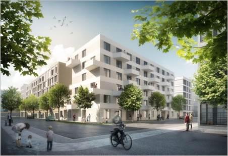 Wohn- und Geschäftshaus Berlin- Wohnanlage Stadthafenquartier Berlin