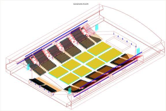3D Modell Arena Leipzig